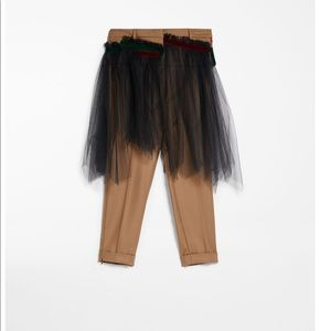 MaxMara Pants - Max Mara Weekend Wool Flannel Trousers and Tulle